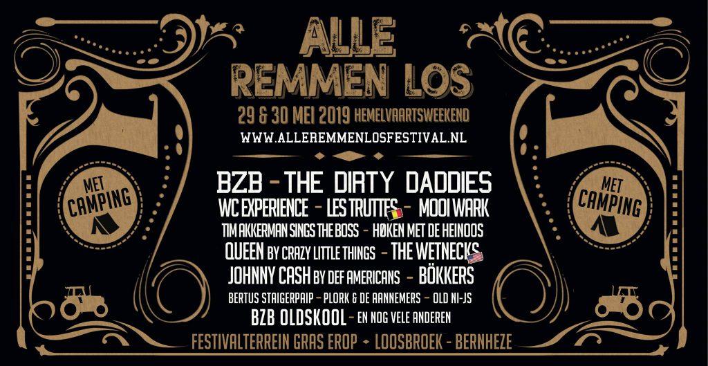 Festival, alle remmen los, programma